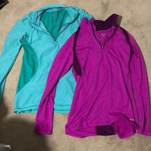 Champion 1/4 zip bundle one purple one aqua